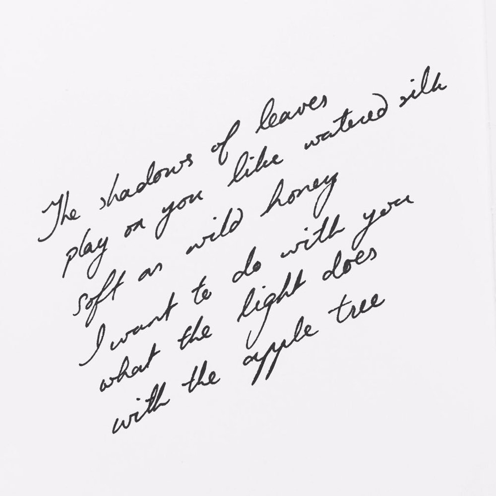 RT @piecesoflonging: The shadows of leaves Play on you like watered silk Soft as wild honey...  #micropoetry #poetry #love #poem https://t.…