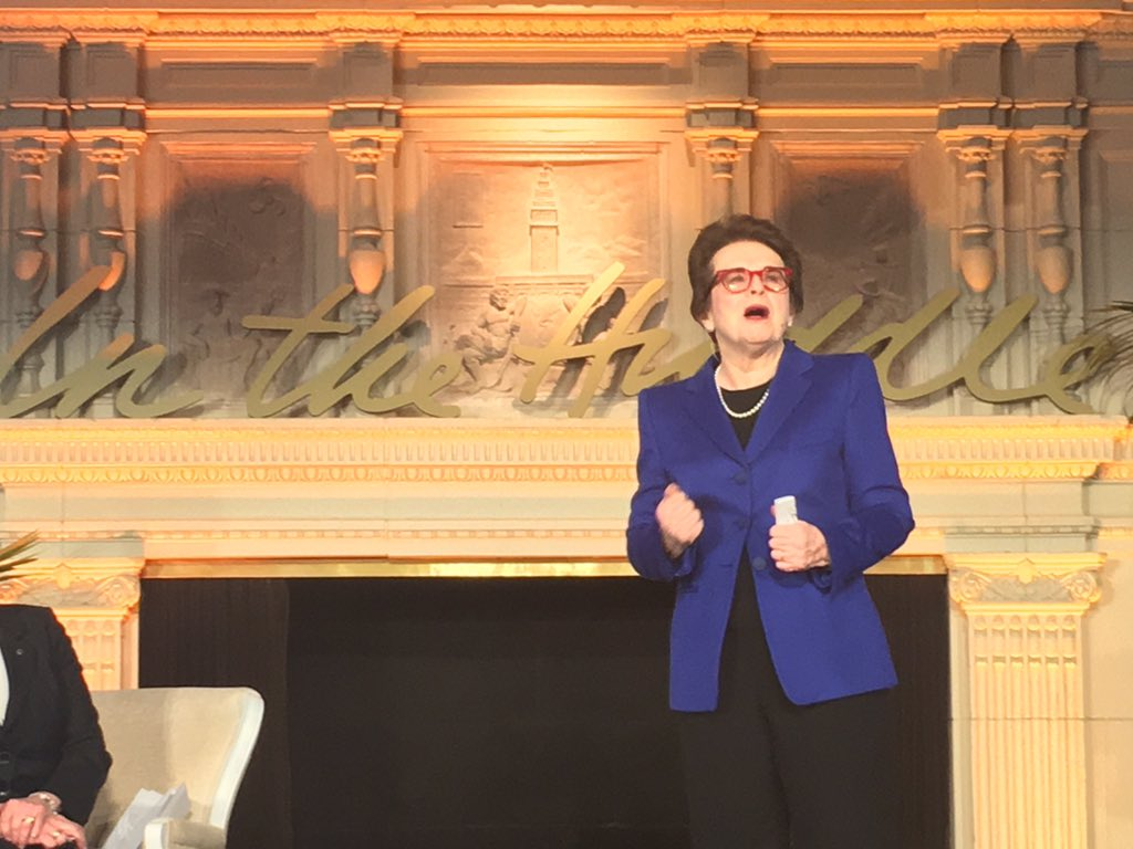 """Dream your dream and go for it."" -@BillieJeanKing #InTheHuddle https://t.co/jCAeEGGSKa"