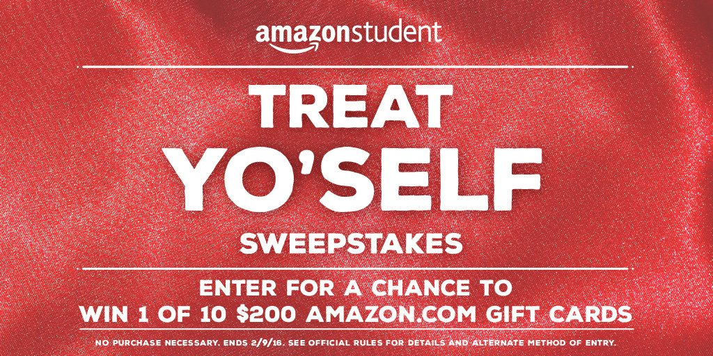 #ValentinesDay = time to #treatyoself! Enter for a chance to win a $200 Amazon Gift Card at https://t.co/uOlWa1uYt6 https://t.co/fXk199G3tL