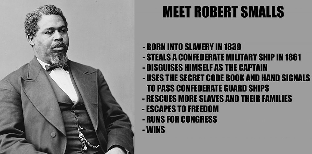 Meet Robert Smalls, a slave who commandeered a Confederate ship & delivered it to the Union. #BlackHistory #spy https://t.co/dHco5iZCa8