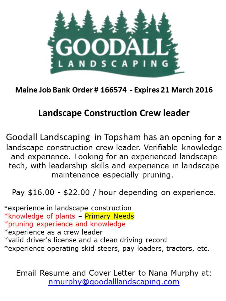 southernmidcoastcc on twitter goodall landscaping is hiring