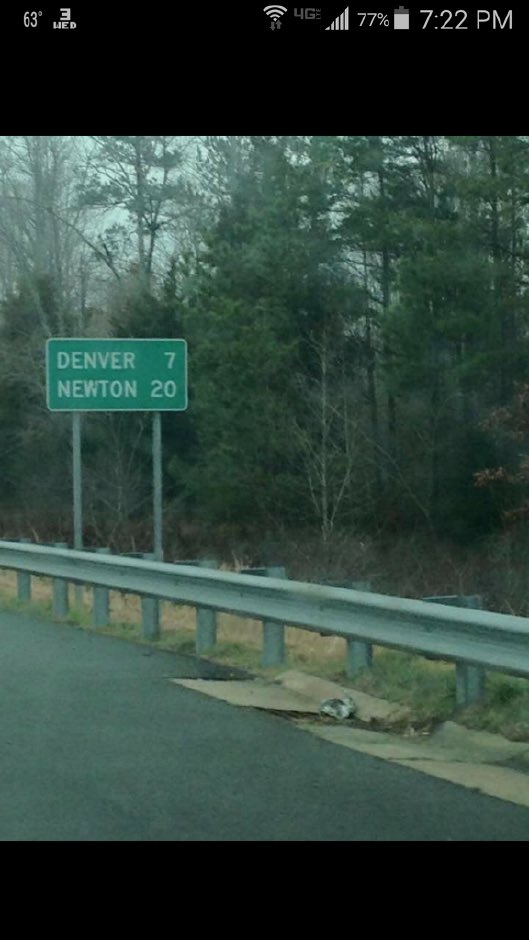 "A real highway sign in ""Carolina."" Prophetic or not? You be the judge. https://t.co/m07JR9A14o"