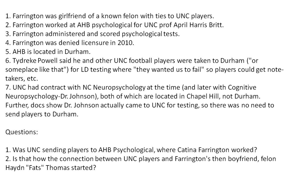 Unc Athletics Scandal: Connecting The Dots