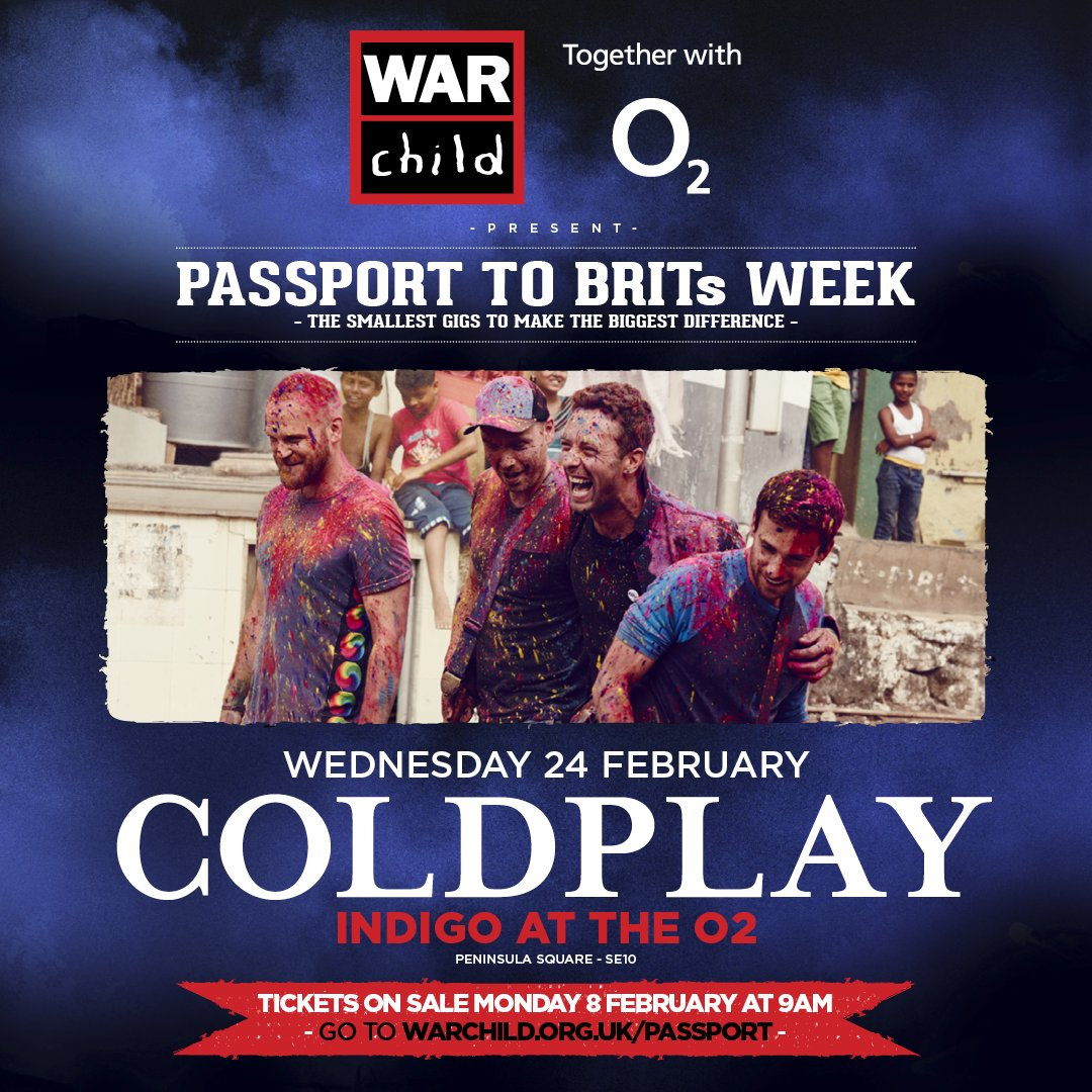We're SO EXCITED to add @Coldplay to Passport to #BRITs Week! Tickets on sale Monday 9am at https://t.co/YOOVT9dZ3M https://t.co/GtuJT6ctFa
