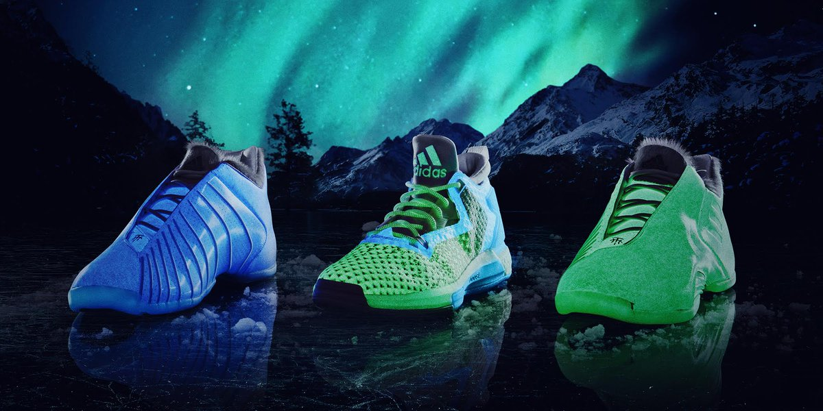 ... TMac 3. They glow in the dark. The Adidas Aurora Triple-White versions  of the Harden PE bef3c25bb