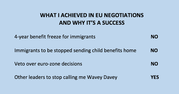 A reminder from David Cameron of what he achieved in the EU negotiations. #bbcqt https://t.co/xD6lrd1BHi