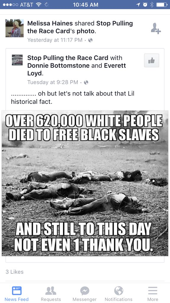 That moment you realize your Facebook friend is for sure racist. https://t.co/Wdj7zHs3Qb