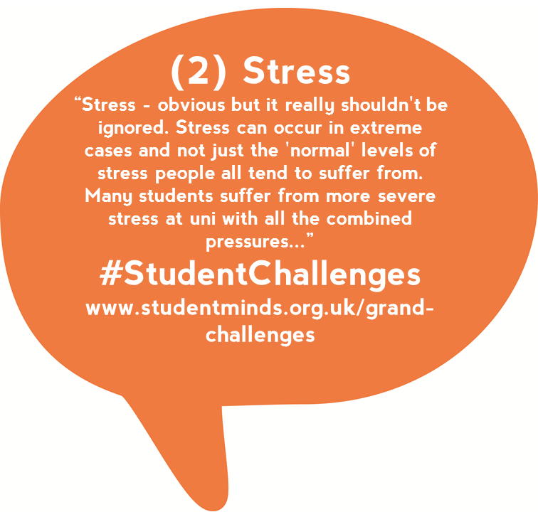 @StudentMindsOrg stress is a big part of uni life for a lot of students. And it stops people talking! #StudentChats https://t.co/EE3hUitUfP