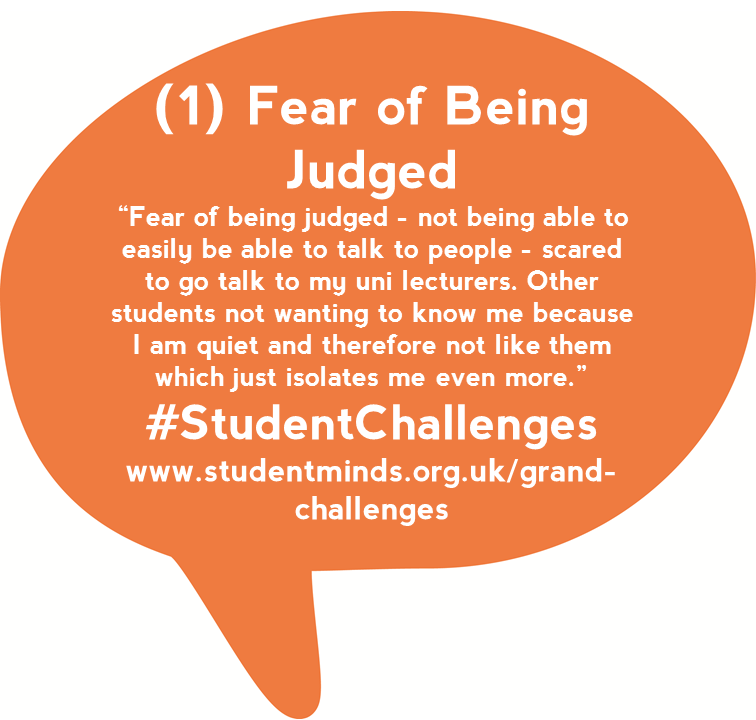 @StudentMindsOrg Students said talking about #mentalhealth leads to a fear of being judged #StudentChats https://t.co/w8JnfRwBRP