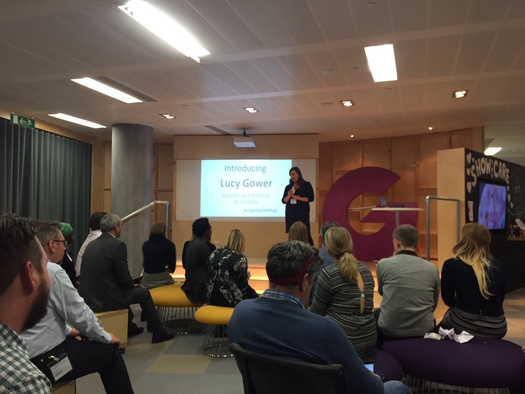 RT @donorfy: Innovating with @LucyInnovation at #charitymeetup , chez @JustGiving https://t.co/LSSrvnpsdb