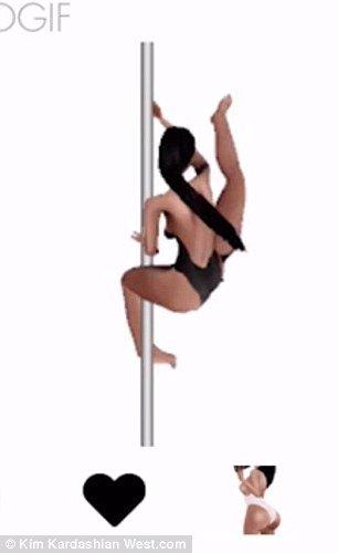 Kardashian stripper pole