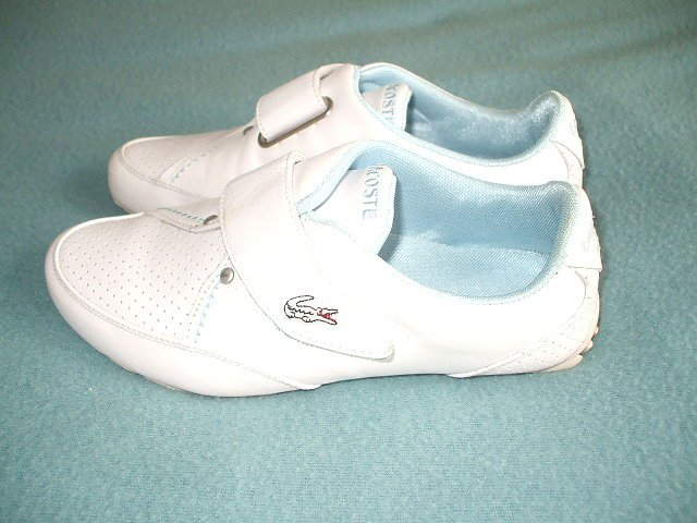b4ef7c14871b  Lacoste Womans Training  Shoes - White Punched Leather - Size 4   37  http   www.ebay.co.uk itm 172088848369