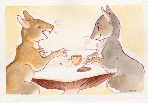 Tea time by Veronika Cesar https://t.co/33c5clE541 #watercolors https://t.co/5xTK4ZrEo2