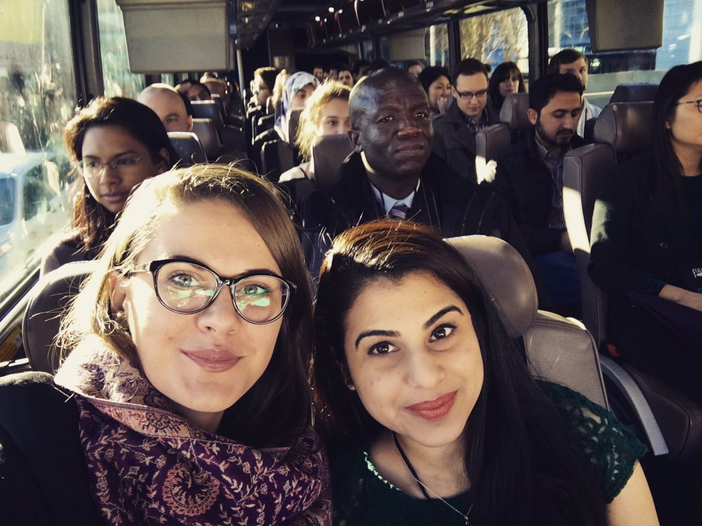 Here with my roommate in a bus full of Fulbrighters from all over the world! #fulbrightatlanta2016 #fulbright #iie 🌎 https://t.co/LelA38kHU1