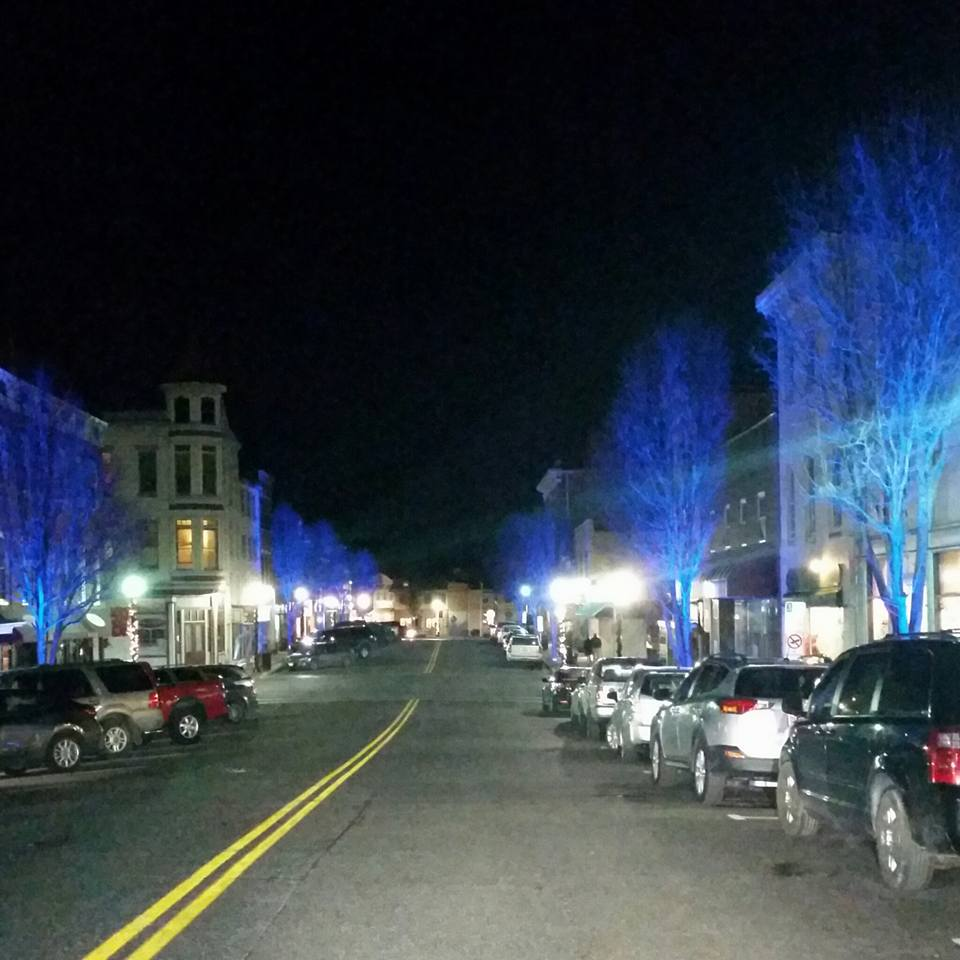 Downtown Havre de Grace bathed in blue light in honor of FallenOfficers Community remembers with love and gratitude