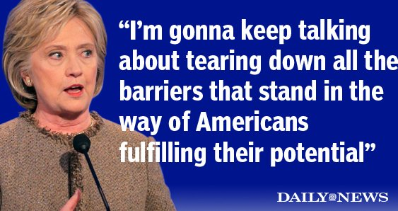 Hillary Clinton in her closing statement at the DemDebate