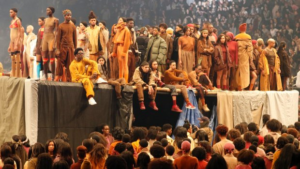 Kanye West drops album, unveils Yeezy collection in NYC