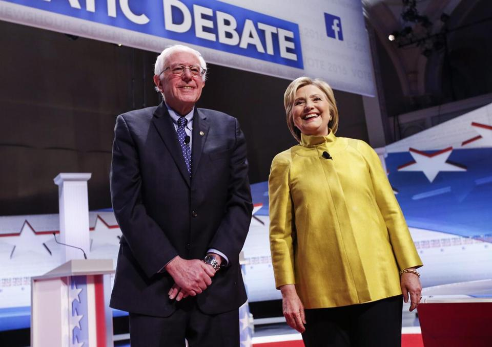 During DemDebate, Clinton, Sanders stress the needs of minorities and women