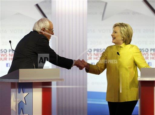The Latest on DemDebate: It has concluded.
