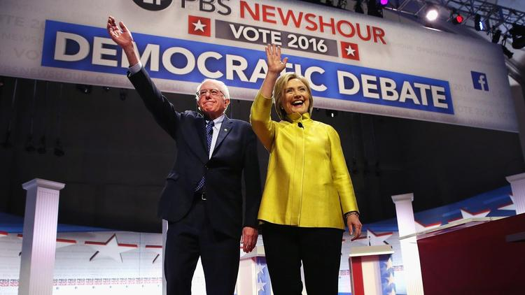 Clinton hits Sanders for criticism of Obama; Sanders responds,