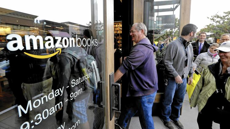 Amazon's bookstore buzz hits San Diego