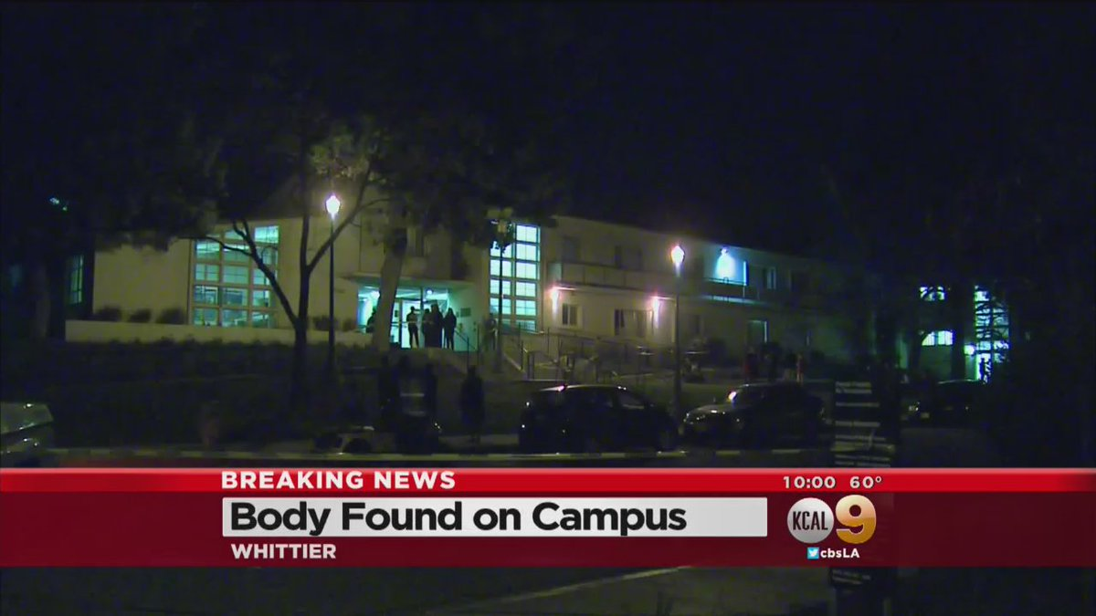 Female Student Found Dead At Whitter College. @CBSLARachel has the latest, WATCH