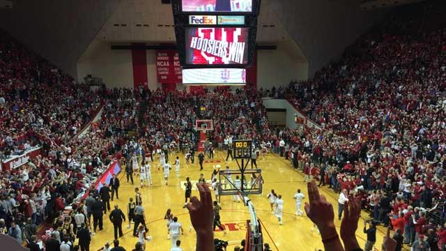 KRAVITZ: Big crowd, big noise, and an even bigger win for IU over Iowa. iubb @bkravitz