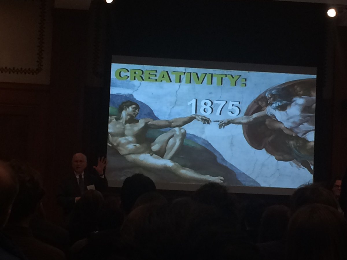 """Richard N. Foster - the word """"creativity"""" was not in the dictionary until 1875 #DASER https://t.co/8AygPr3WKa"""