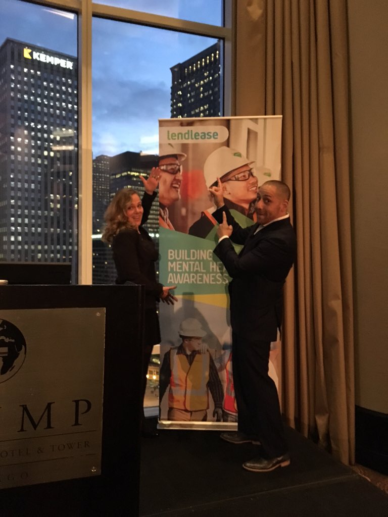 Super psyched 2B presenting w @KevinHinesStory on #mentalhealth & #suicideprevention #LendLease4Hope @LendLeaseGroup https://t.co/GcjJhiqZJF