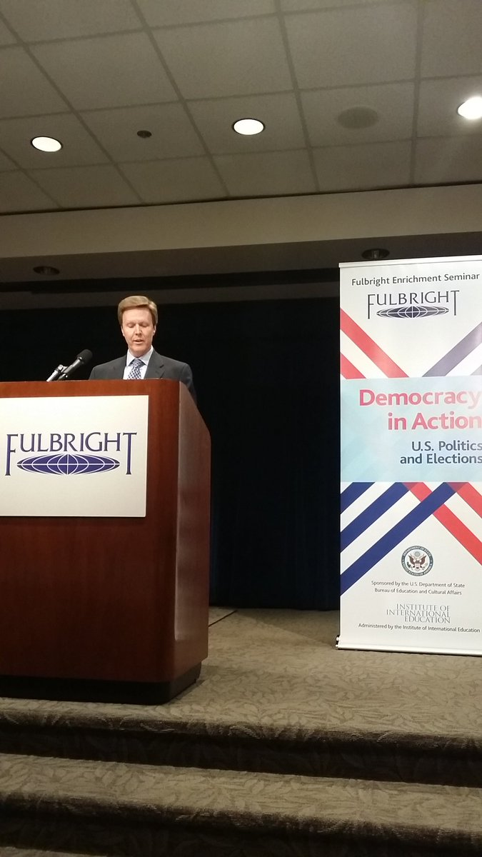"""We will also answer your Donald Trump questions"" @KerwinSwint  at Democracy in Action #fulbrightatlanta2016 https://t.co/x93X23Ljgt"