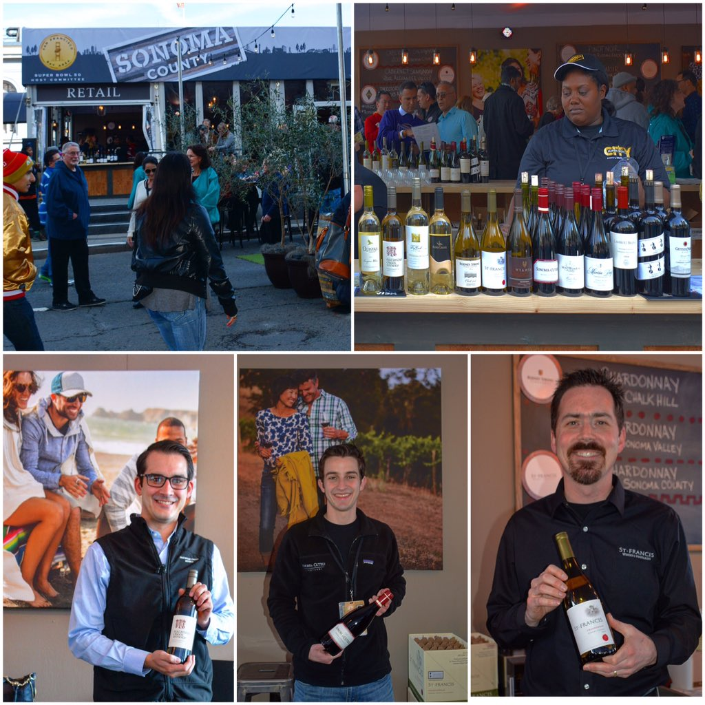 @sonomavintners have an impressive set of wines available in the Taste of Sonoma Lounge  @superbowl50 #SuperBowlCity https://t.co/WKI4yxquY0