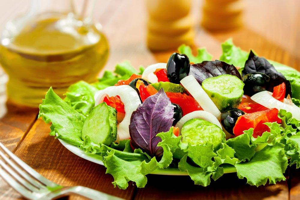 Овощные диетические салаты для похудения с фото