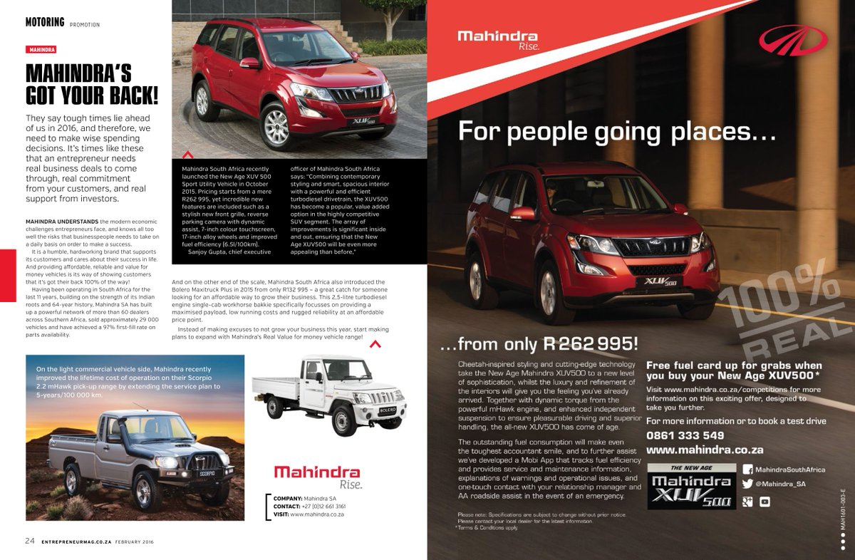 Mahindra South Africa on Twitter: