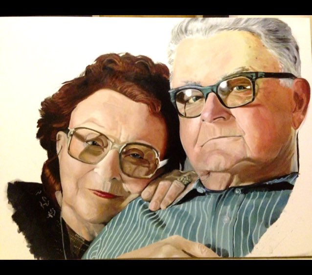 ✨Ive never met these 2 people-but after all the days & nights Ive spent painting them-I cant help but love them✨ 85% https://t.co/hq4aig7wZ8