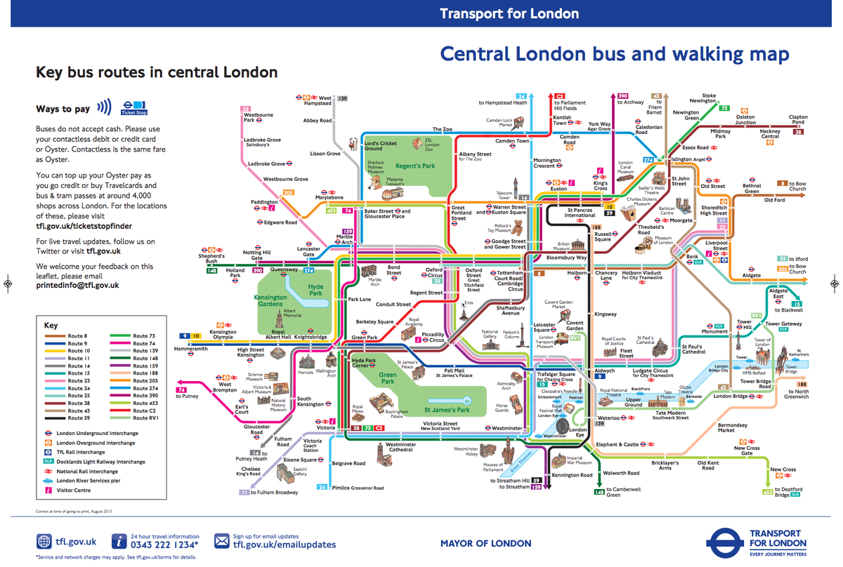 Tube Map on Twitter This bus and walking map by TfL is amazing