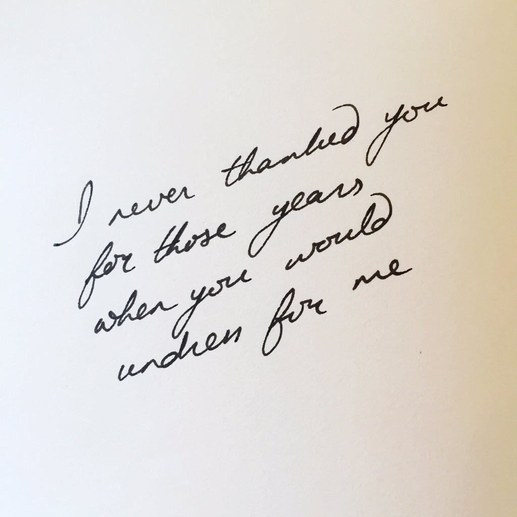 RT @piecesoflonging: I never thanked you For those years When you would Undress for me  #micropoetry #poetry #mpy #handwritten https://t.co…