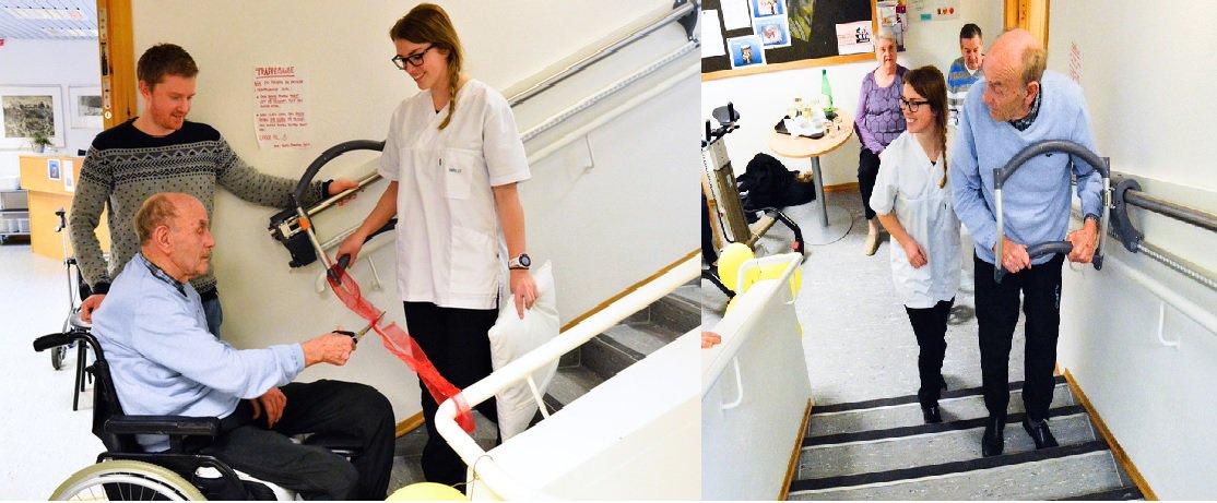 @assistep_no Tok trappa for første gang på 7 år! #Sykehjem #hjelpemiddel #funksjonshemmede