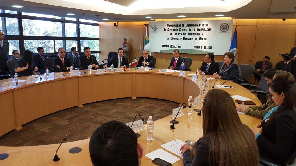 Firman Cámara de Diputados y OEA Memorándum de Entendimiento