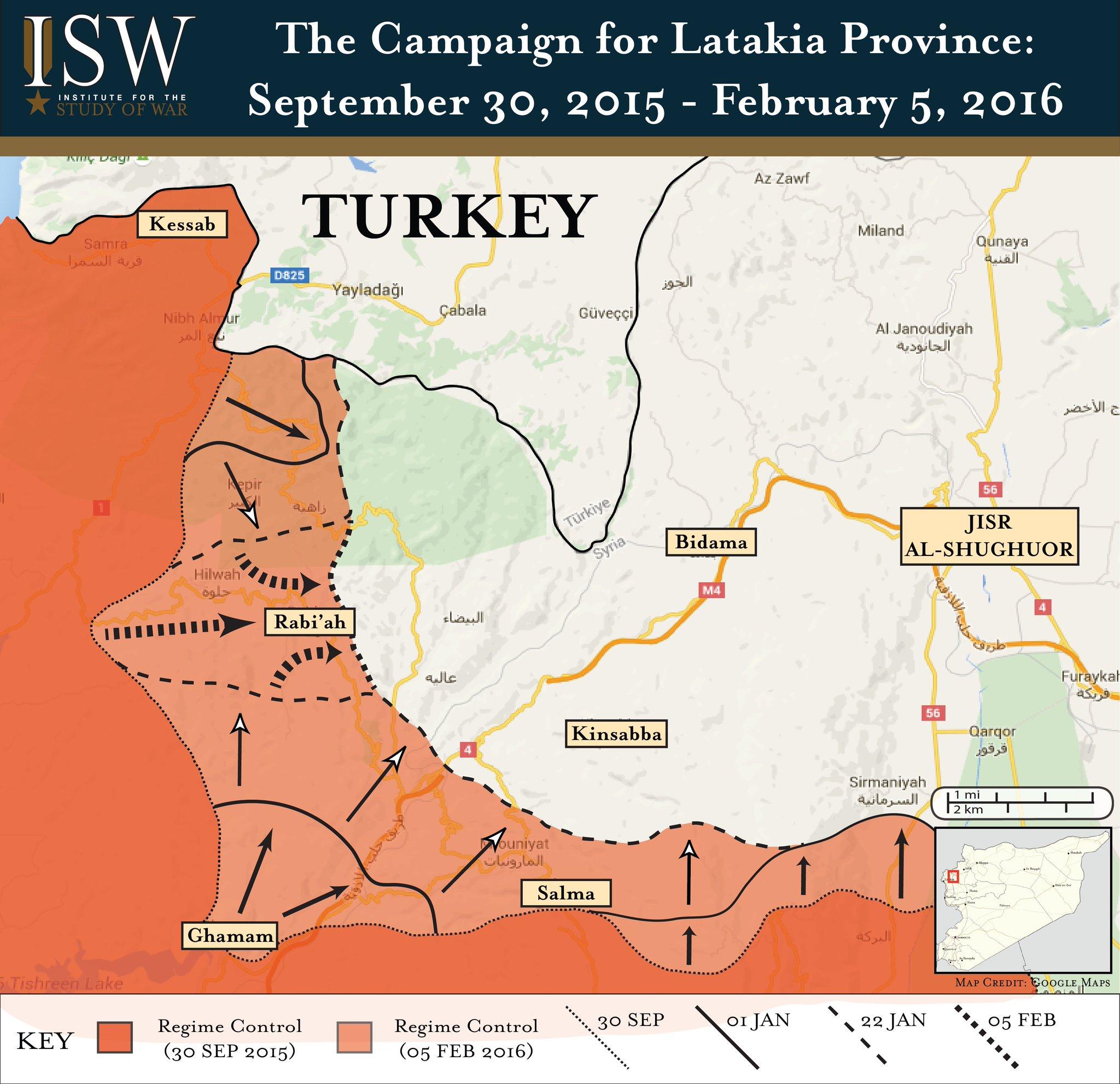 Сводка боёв в Сирии