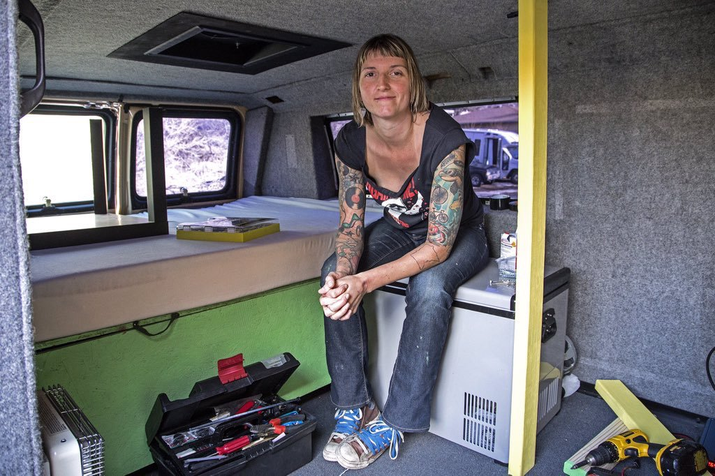 Home sweet van. TheVanMovement is fighting back against high rent prices in Denver.