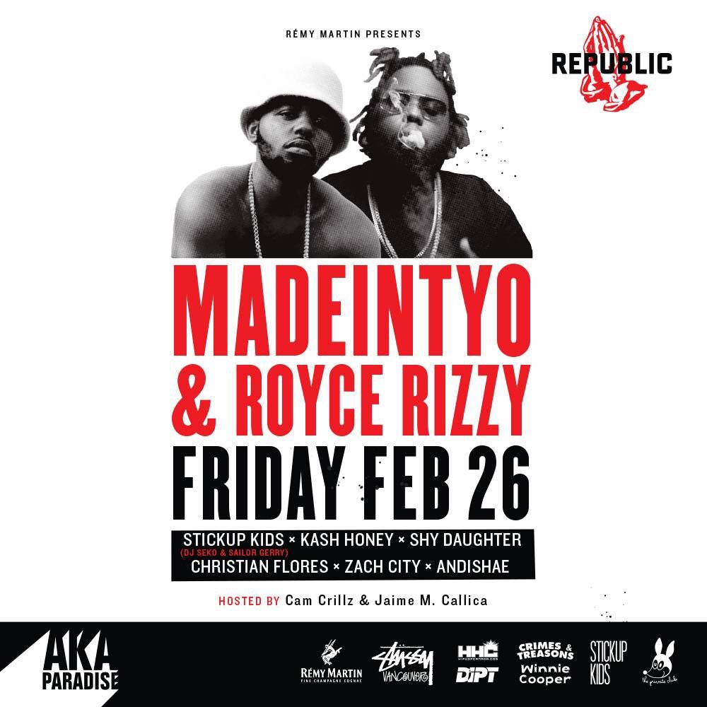 We've got @MDNTOKYO & @roycerizzy debuting in Vancouver on Feb 26. Tickets: https://t.co/ocwvD6Xtiv https://t.co/cG6dX4EUiq