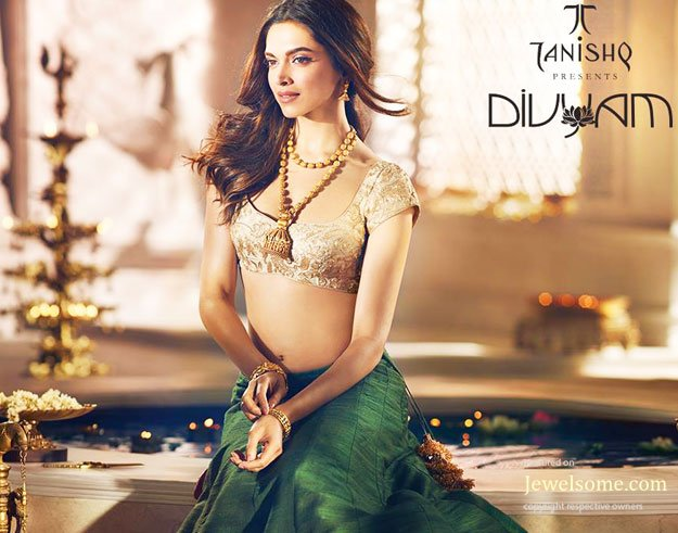 Deepika padukone 39 s pics for tanishq 4569292 for Deepika padukone new photoshoot for tanishq jewelry divyam collection