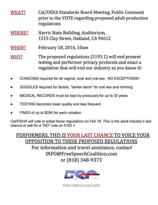 RT @KendraLust: PERFORMERS!!  Please READ and RT!!! #OSHA #MyBodyMyChoice #ProposedCondomLaw https://t