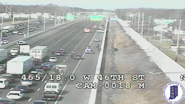 TRAFFIC ALERT: Indiana State Police investigate report of shots fired on I-465 west side