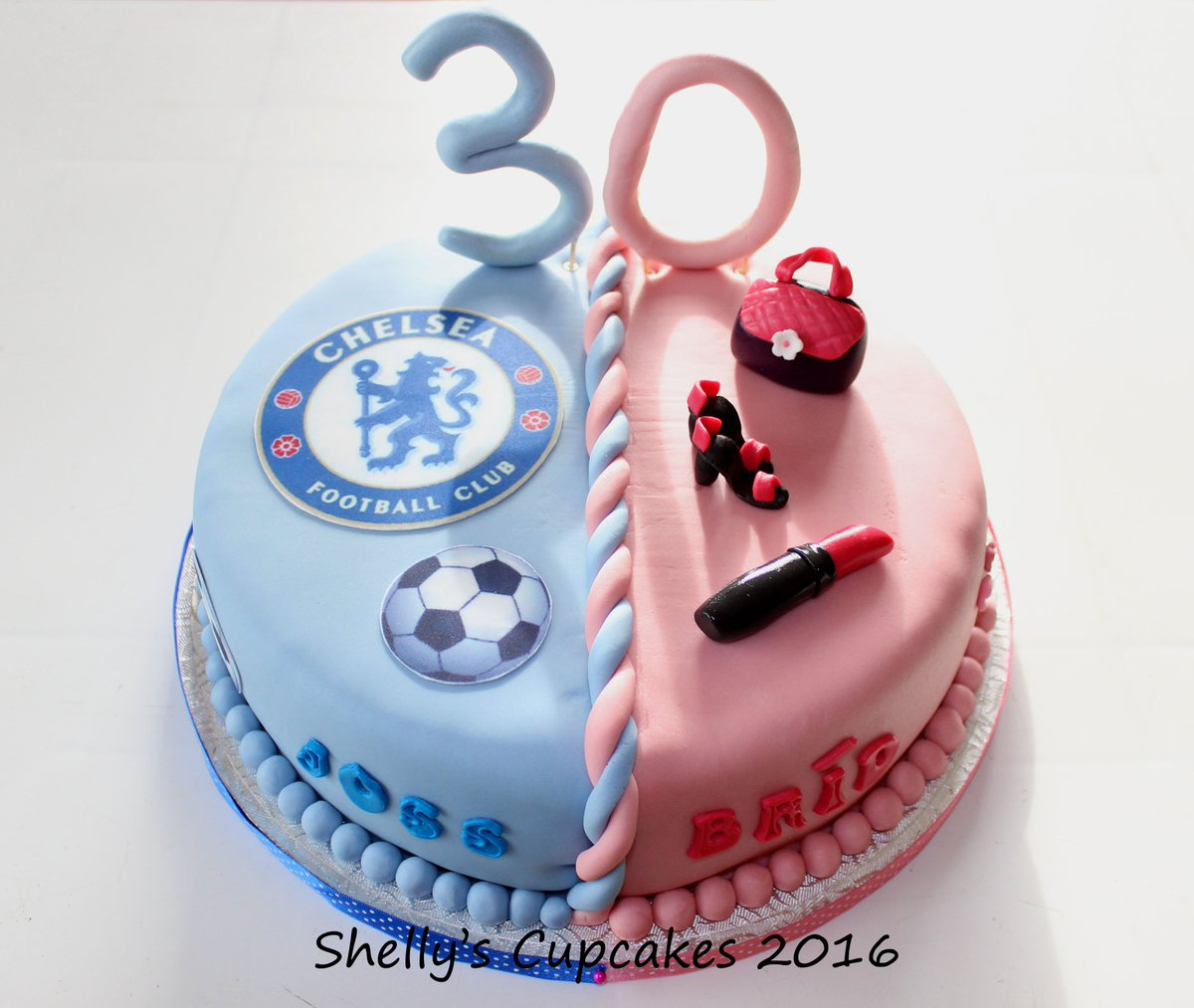 Pleasant Shellys Cup Cakes On Twitter Twins 30Th Birthday Cake Chelsea Funny Birthday Cards Online Unhofree Goldxyz
