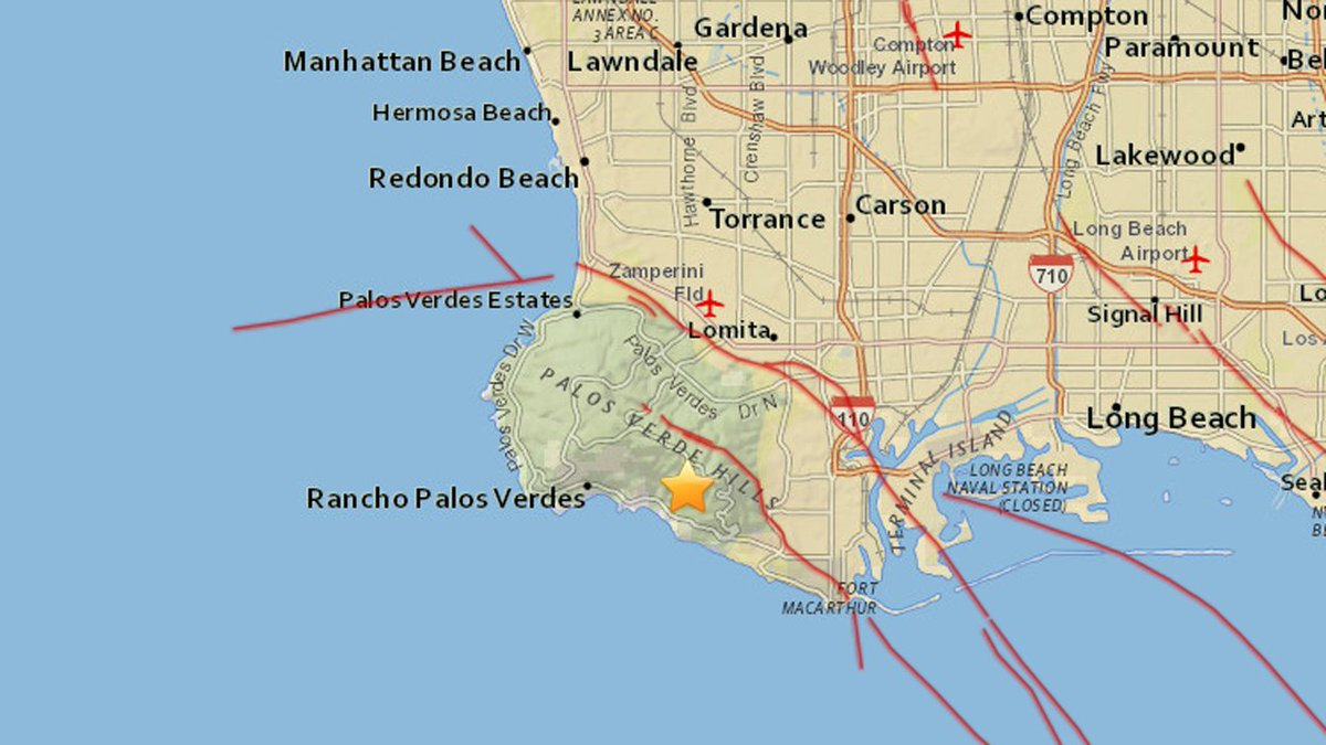 JUST IN: Magnitude-2.7 earthquake hits Rancho Palos Verdes area, USGS says. Did you feel it?