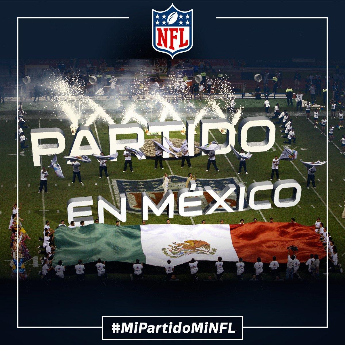 ¡YA ES OFICIAL!  Habrá partido en México.  #MiPartidoMiNFL https://t.co/aWCgsbpmjo
