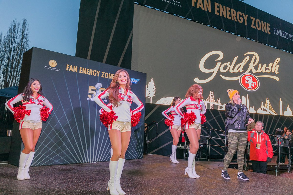 Full program at the Fan Energy Zone powered by @SAP today, schedule here: https://t.co/lcp8QhMHO0 #SuperBowlCity https://t.co/IMsdFjkDDH