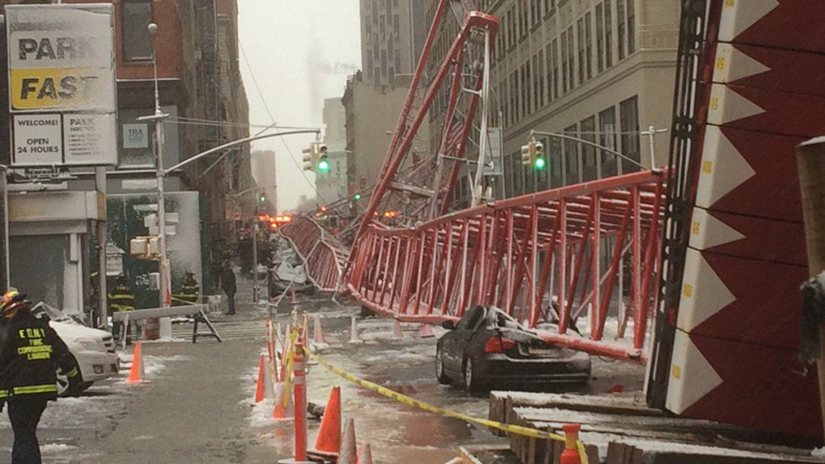 Strong winds may have been factor in NYC crane collapse that left 1 dead, 3 injured