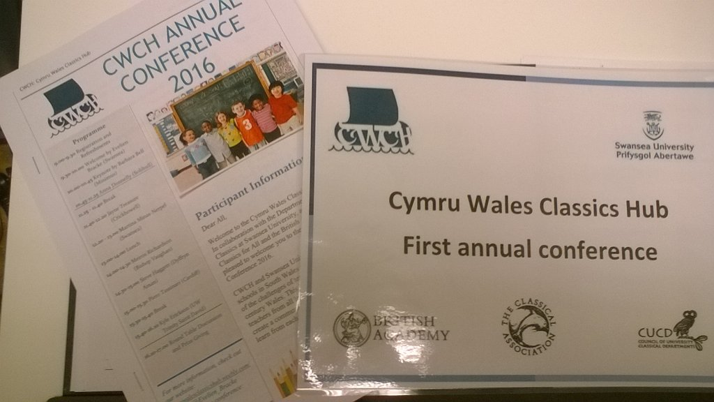 Paper finished - ready to go! #CWCH conference on Teaching Classics in Wales https://t.co/Ui8UqFgroT